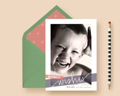 Criss Cross Christmas Custom Photo Cards