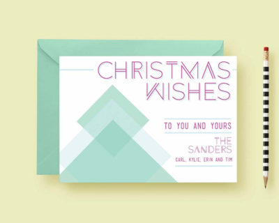 Geometric Christmas Custom Photo Cards, Christmas Card Template, Holiday Cards, Shimmer Cardstock, Printable or Printed, FREE SHIPPING
