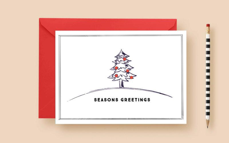 Modern minimal rustic christmas custom cards letter loft modern minimal rustic christmas custom cards christmas card m4hsunfo