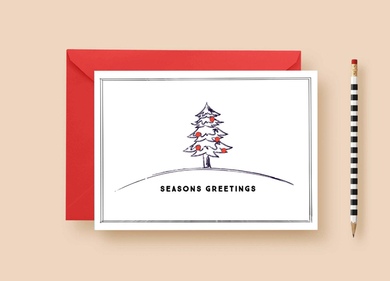 Modern Minimal Rustic Christmas Custom Cards Letter Loft