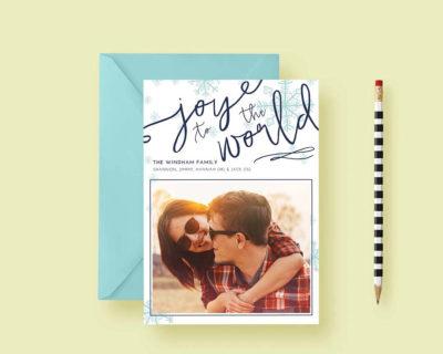 Modern Minimal Simple Holiday Custom Photo Cards, Holiday Card Template, Photo Holiday Cards, Printable or Printed, FREE SHIPPING