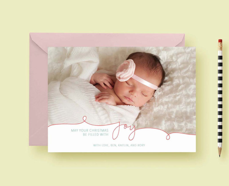 Modern Simple Script Custom Photo Cards - Custom Photo Christmas Cards - Christmas Joy - Photo Holiday Cards - Printable or Printed!