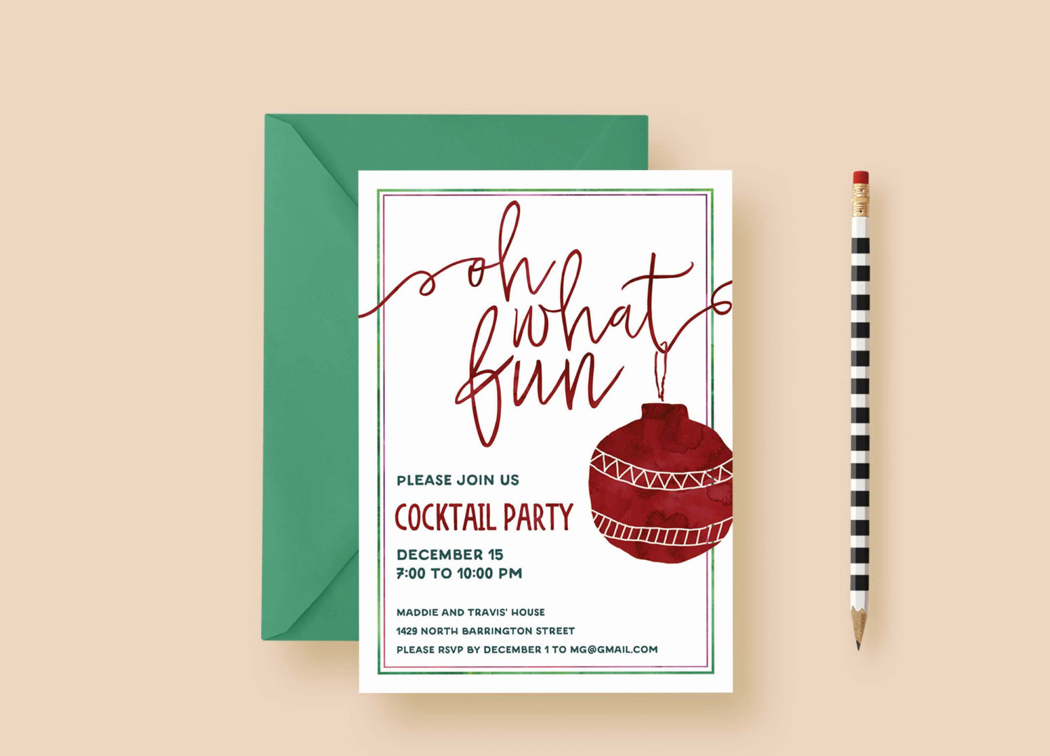 Oh What Fun Holiday Party Invitations | Letter Loft