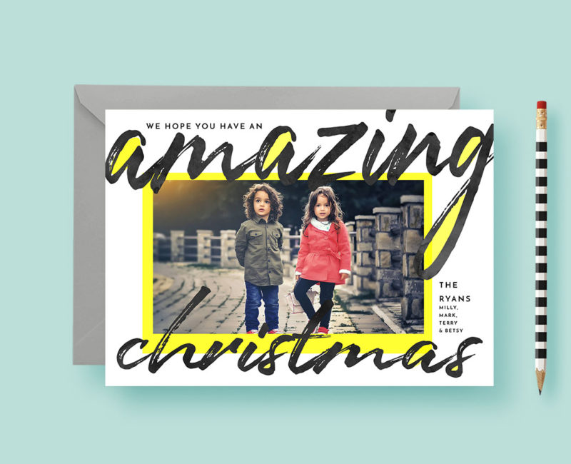 Bold and Bright Christmas Photo Cards
