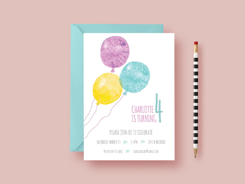 child-birthday-invite-balloons-styled