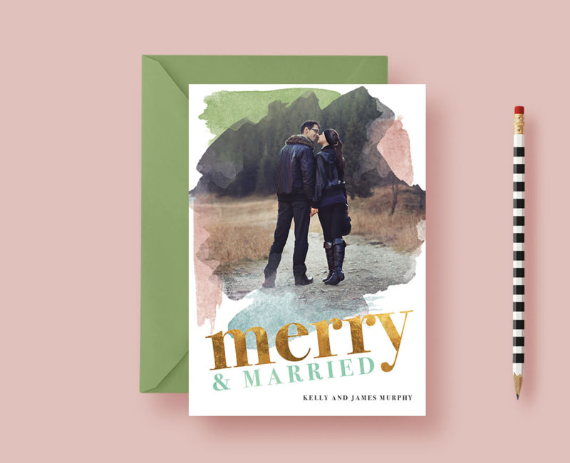 Merry and Married Holiday Photo Cards