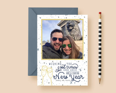 Roaring New Year Custom Photo Cards